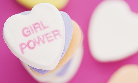 "love heart sweet with ""girl power"" written on it"